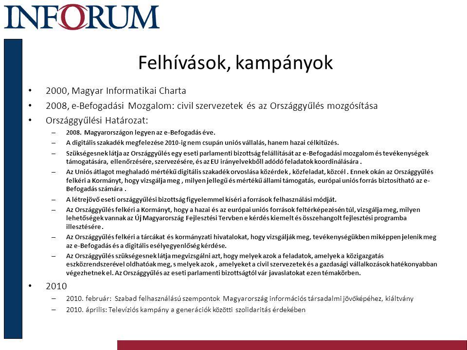 Felhívások, kampányok 2000, Magyar Informatikai Charta