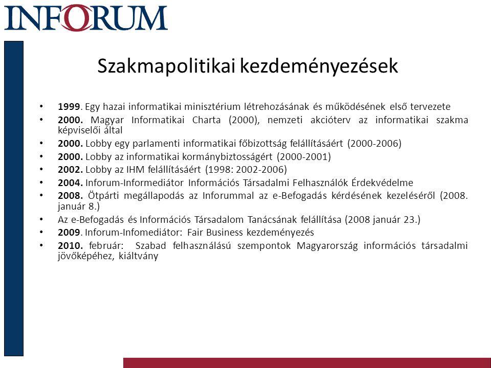 Szakmapolitikai kezdeményezések