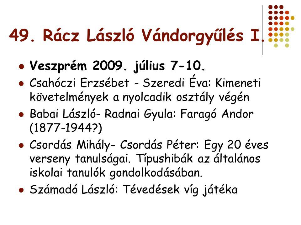 49. Rácz László Vándorgyűlés I.