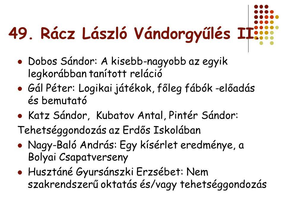 49. Rácz László Vándorgyűlés II.