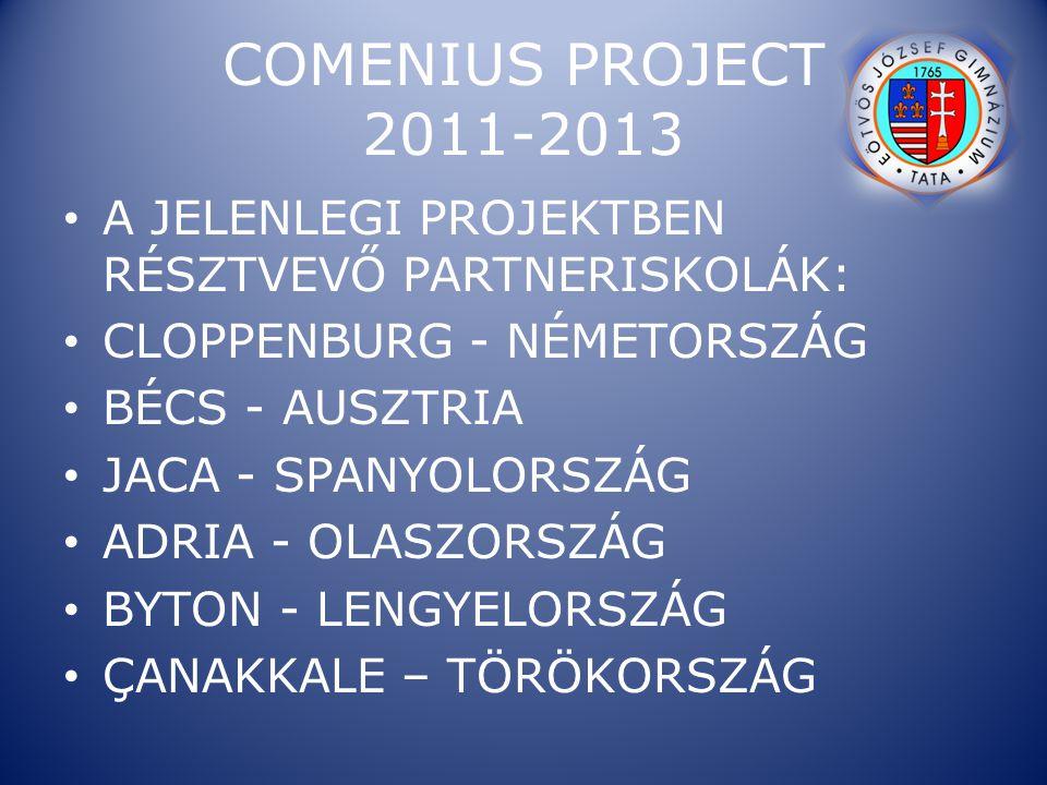 COMENIUS PROJECT 2011-2013 A JELENLEGI PROJEKTBEN RÉSZTVEVŐ PARTNERISKOLÁK: CLOPPENBURG - NÉMETORSZÁG.