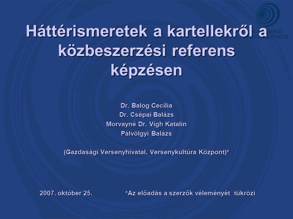 Háttérismeretek a kartellekről a közbeszerzési referens képzésen
