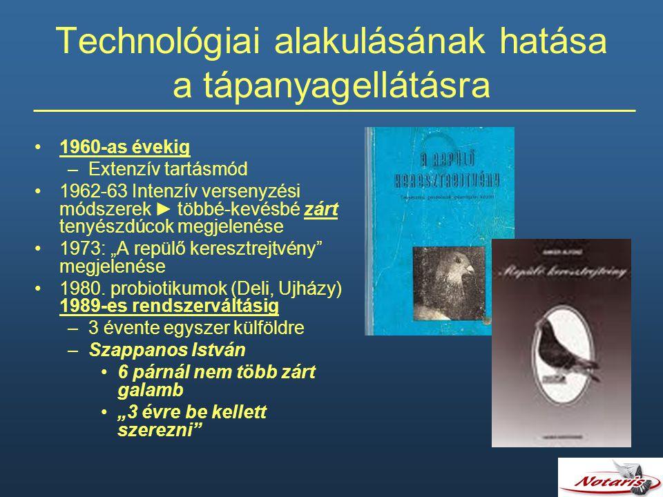 Technológiai alakulásának hatása a tápanyagellátásra