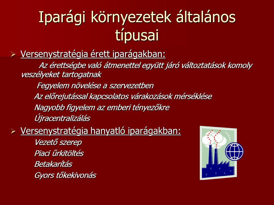 Iparági környezetek általános típusai