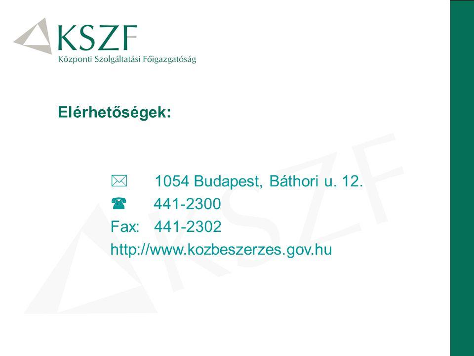 Elérhetőségek:  1054 Budapest, Báthori u. 12.