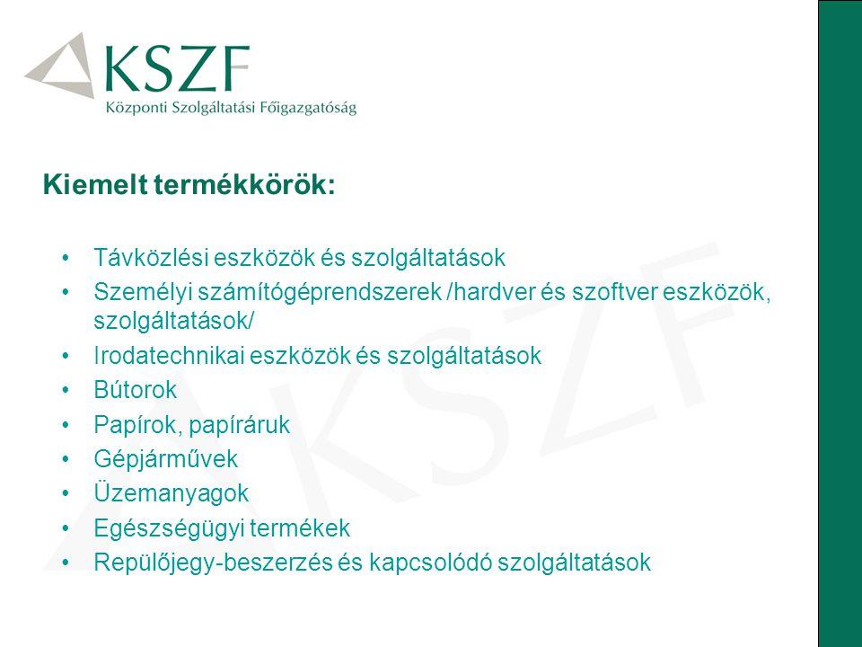 Kiemelt termékkörök: Távközlési eszközök és szolgáltatások