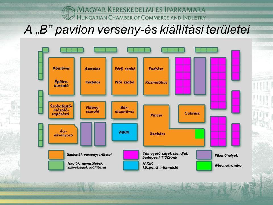 """A """"B pavilon verseny-és kiállítási területei"""