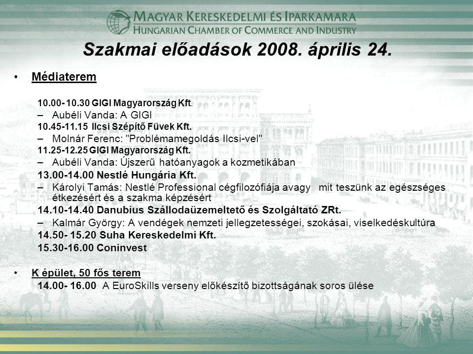 Szakmai előadások 2008. április 24.