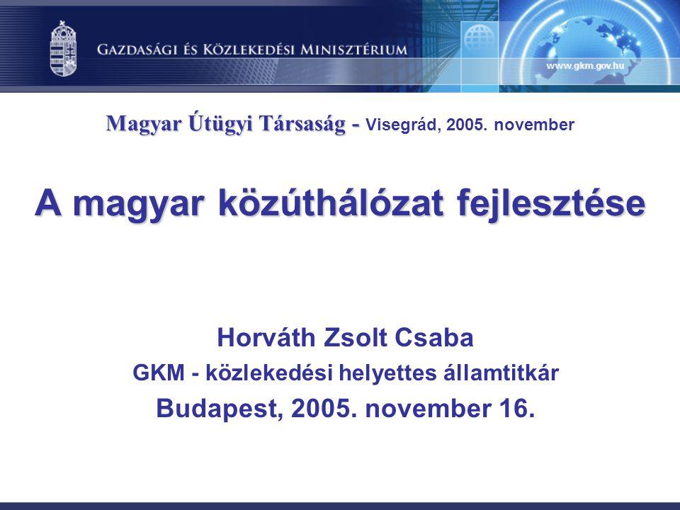 A magyar közúthálózat fejlesztése