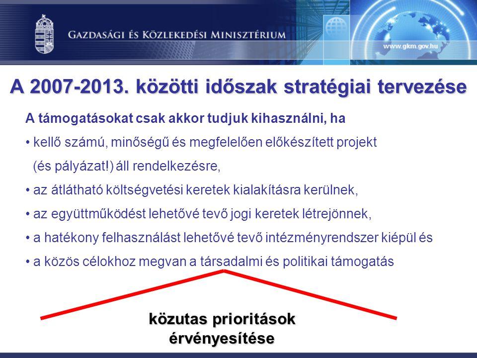 A 2007-2013. közötti időszak stratégiai tervezése