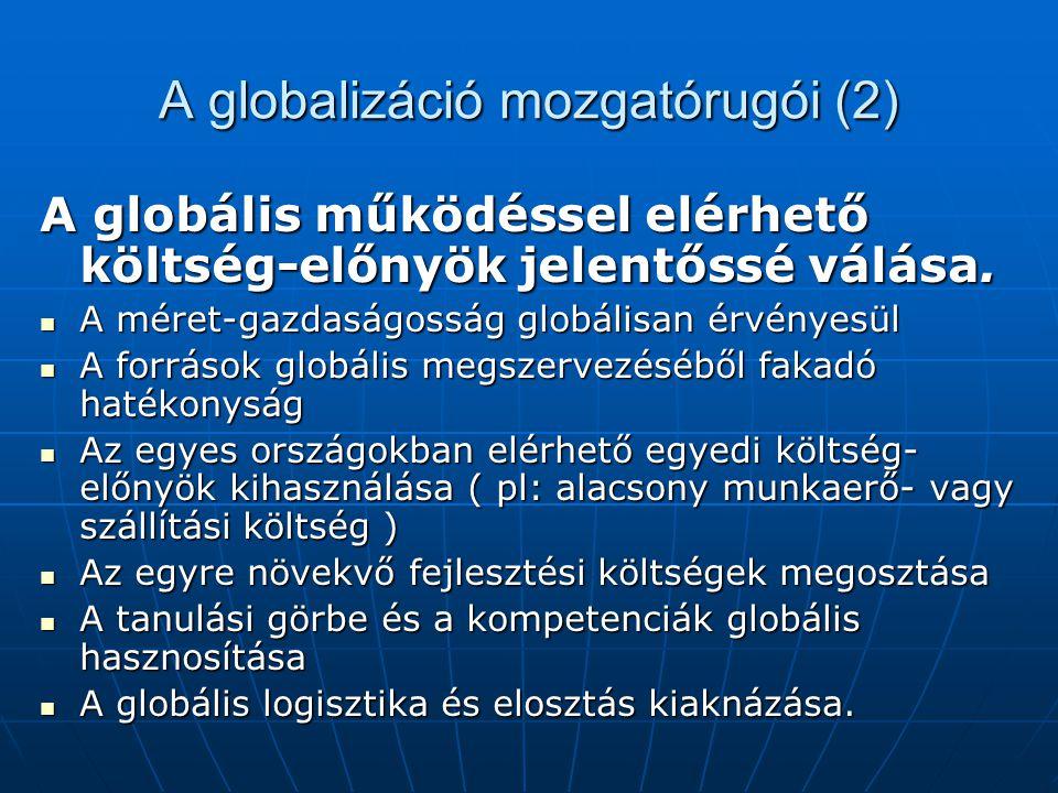 A globalizáció mozgatórugói (2)