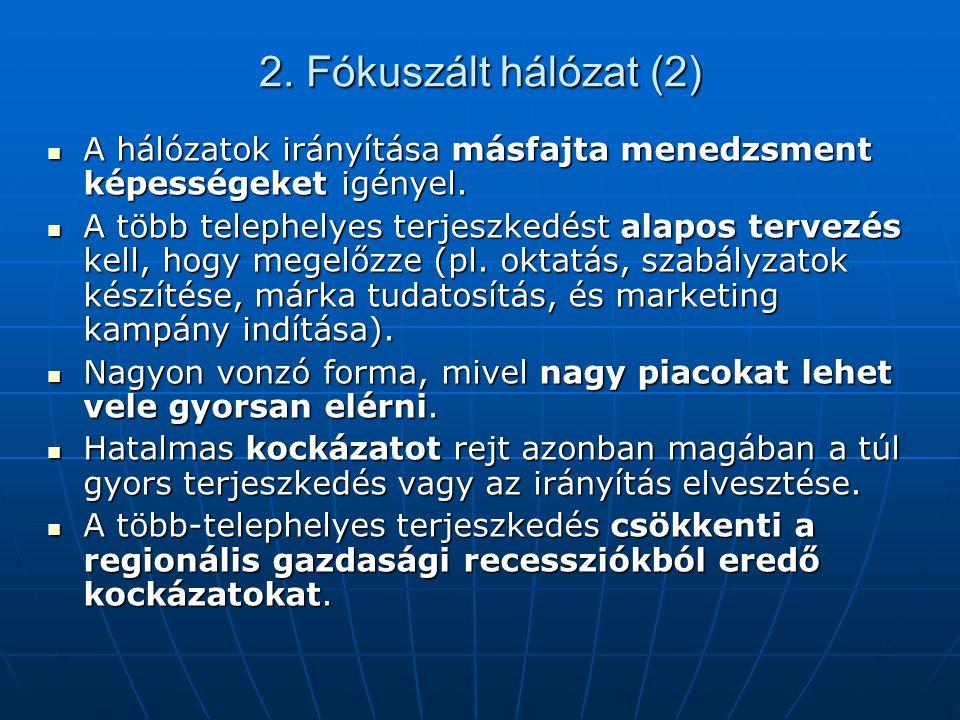 2. Fókuszált hálózat (2) A hálózatok irányítása másfajta menedzsment képességeket igényel.