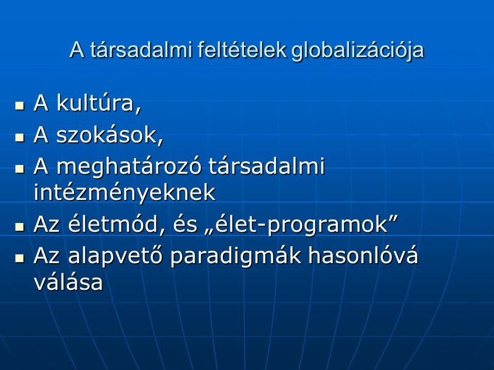 A társadalmi feltételek globalizációja
