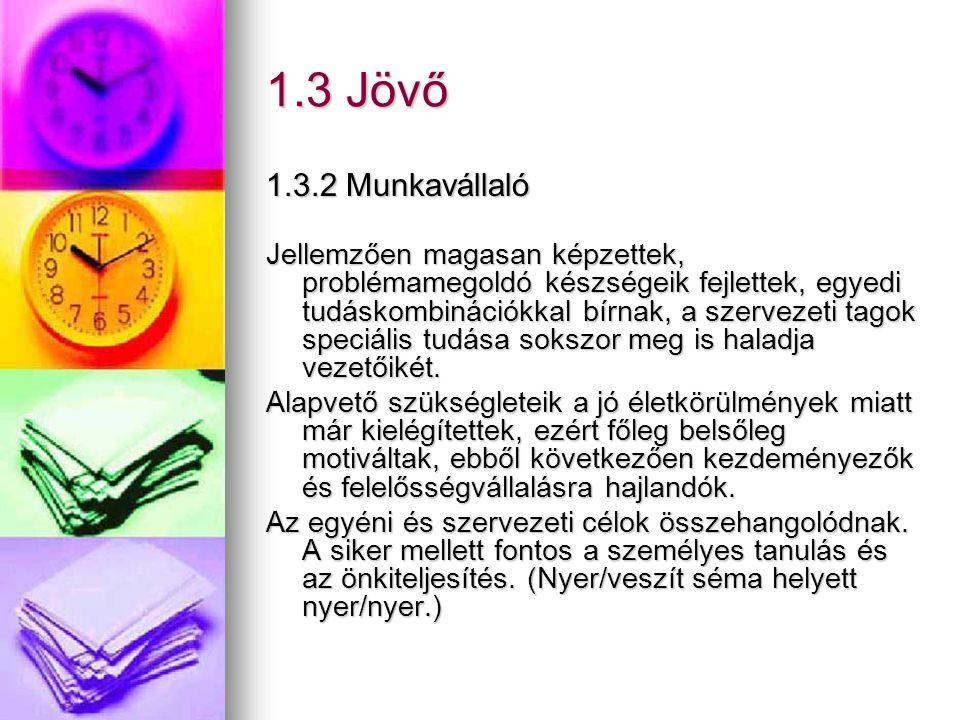 1.3 Jövő 1.3.2 Munkavállaló.