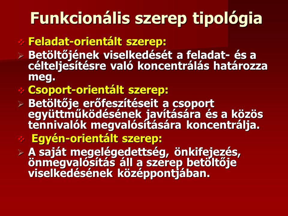 Funkcionális szerep tipológia