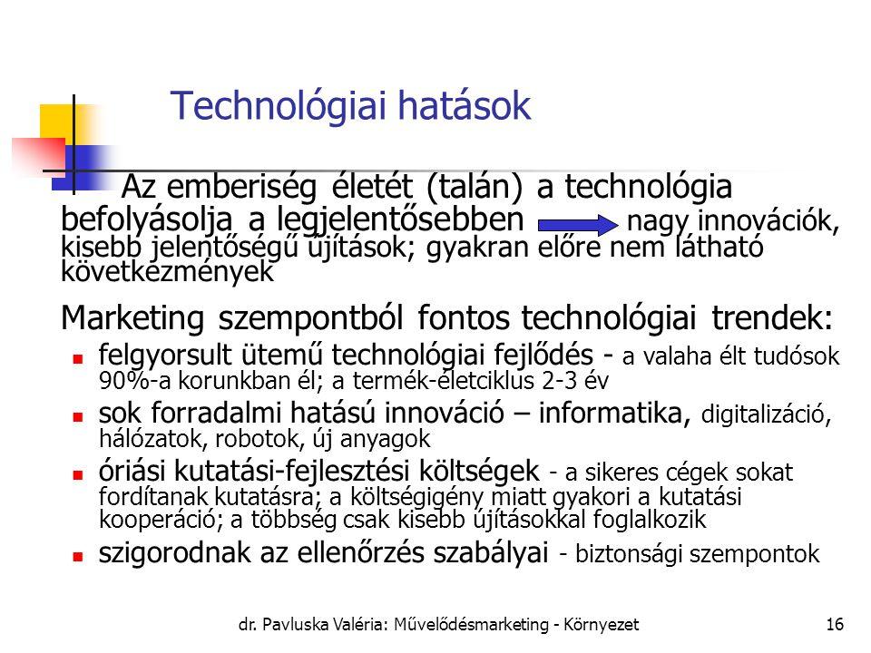 dr. Pavluska Valéria: Művelődésmarketing - Környezet
