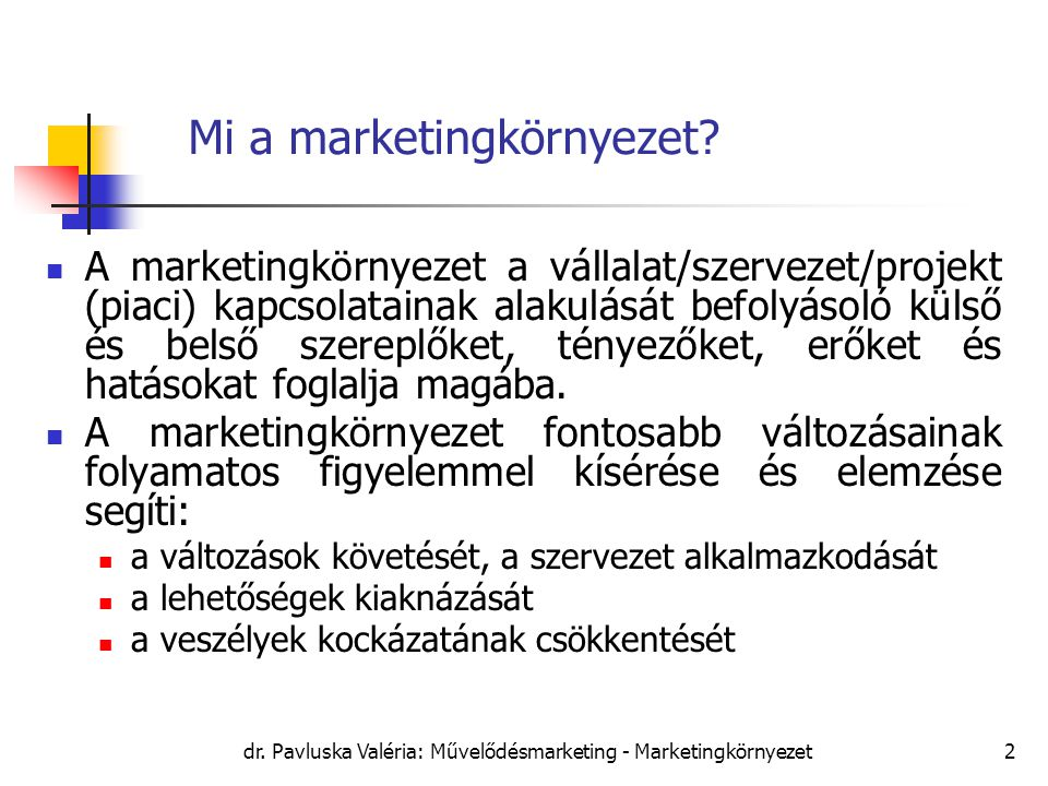 Mi a marketingkörnyezet