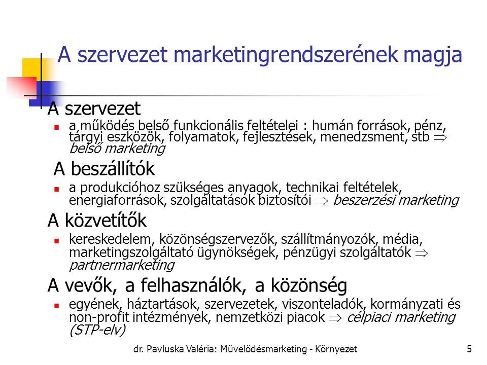 A szervezet marketingrendszerének magja