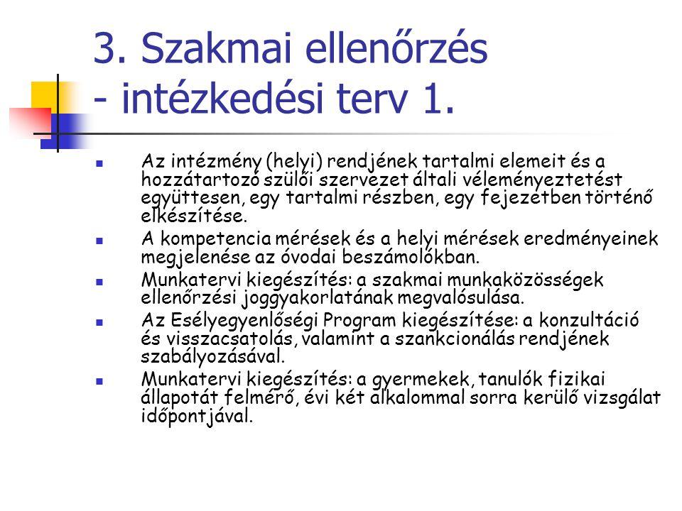 3. Szakmai ellenőrzés - intézkedési terv 1.