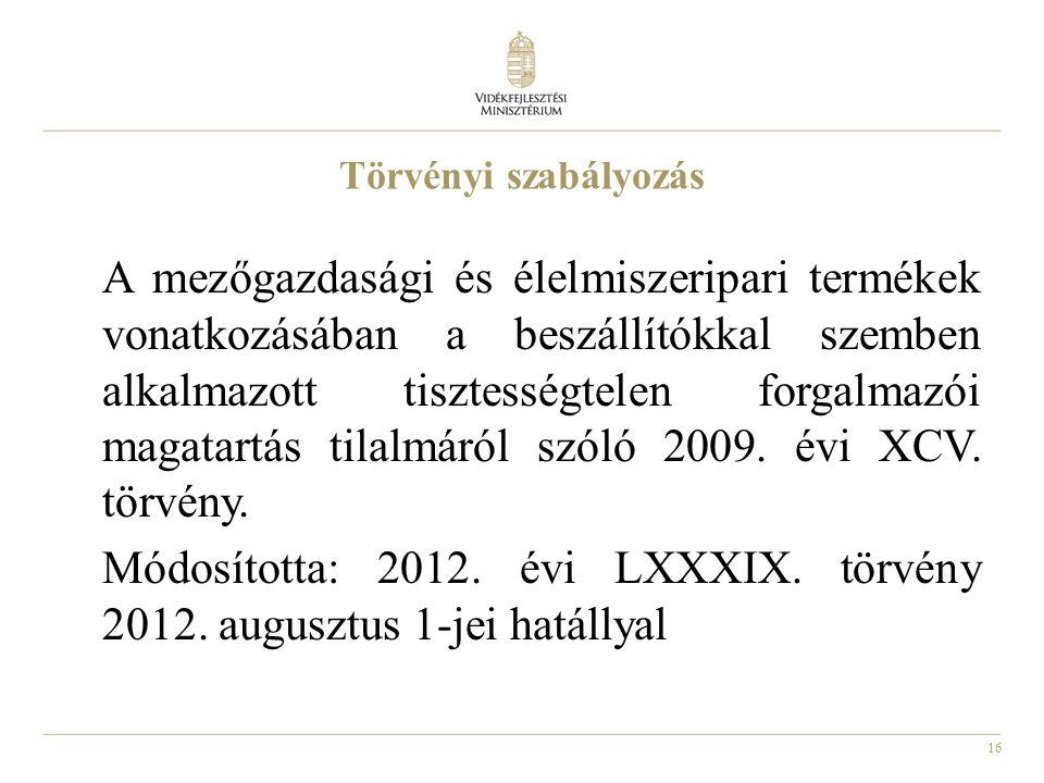 Módosította: 2012. évi LXXXIX. törvény 2012. augusztus 1-jei hatállyal