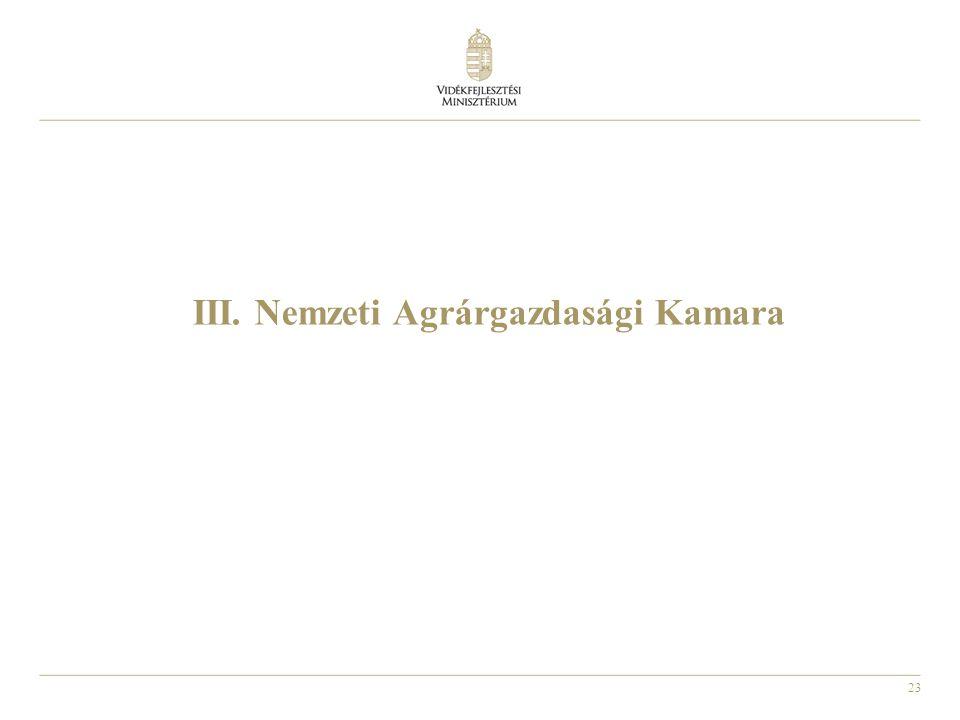 III. Nemzeti Agrárgazdasági Kamara