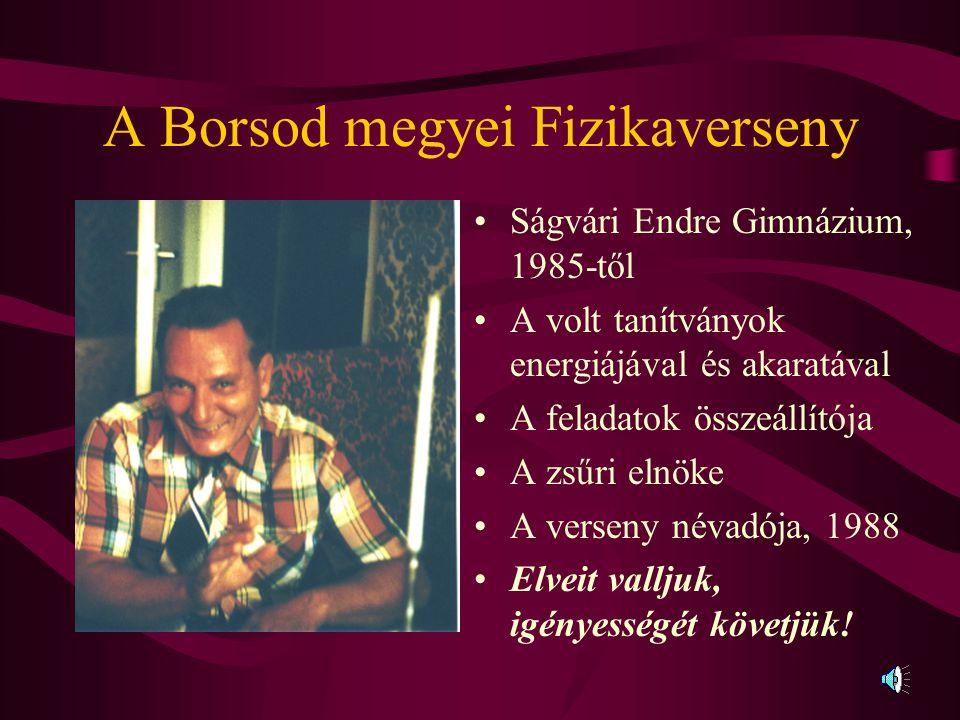 A Borsod megyei Fizikaverseny