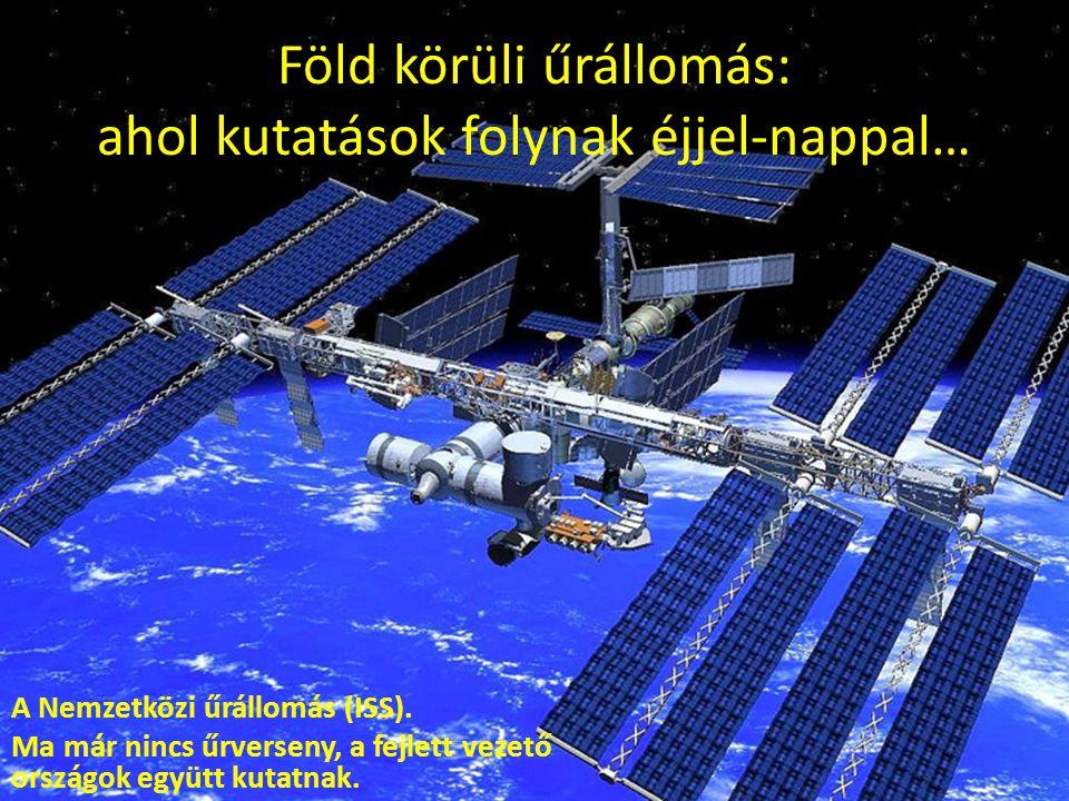 Föld körüli űrállomás: ahol kutatások folynak éjjel-nappal…