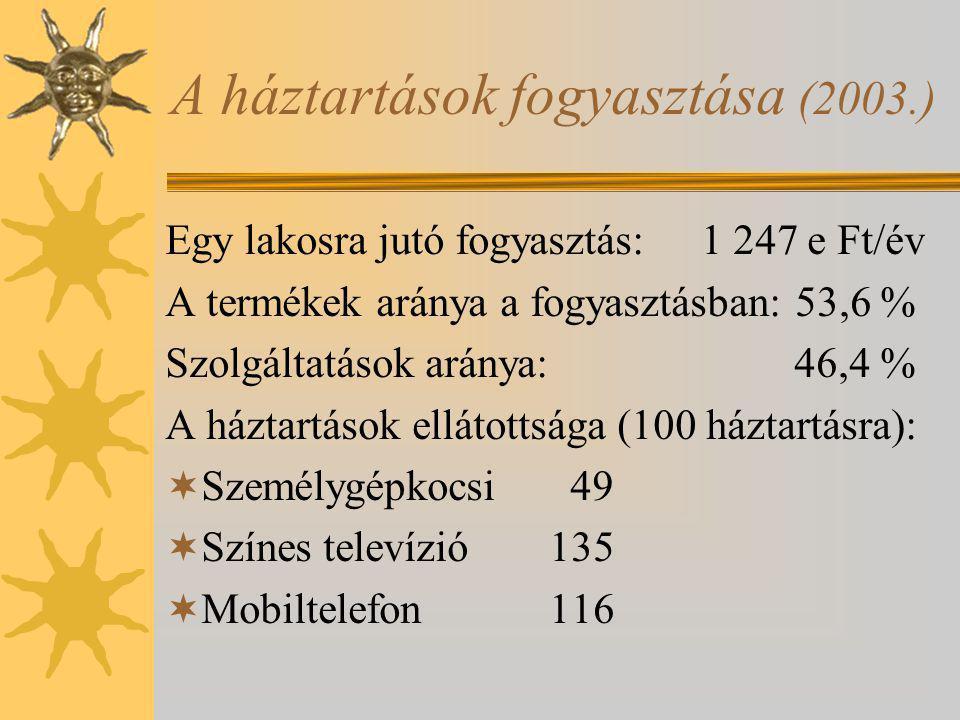 A háztartások fogyasztása (2003.)