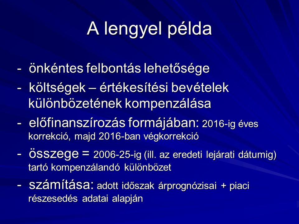 A lengyel példa - önkéntes felbontás lehetősége