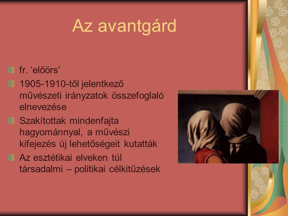 Az avantgárd fr. 'előörs'