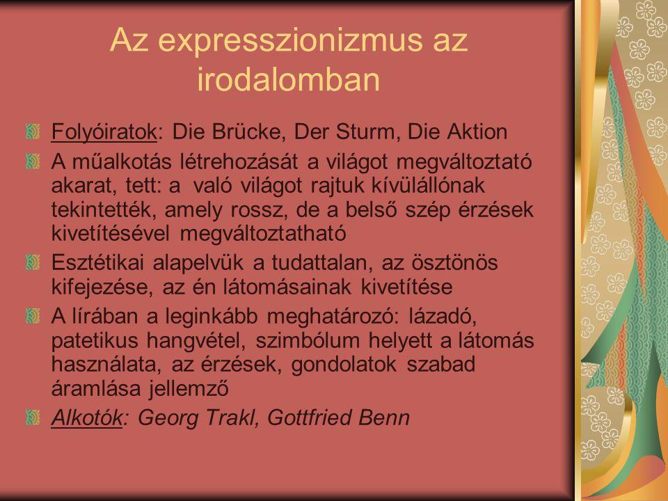 Az expresszionizmus az irodalomban