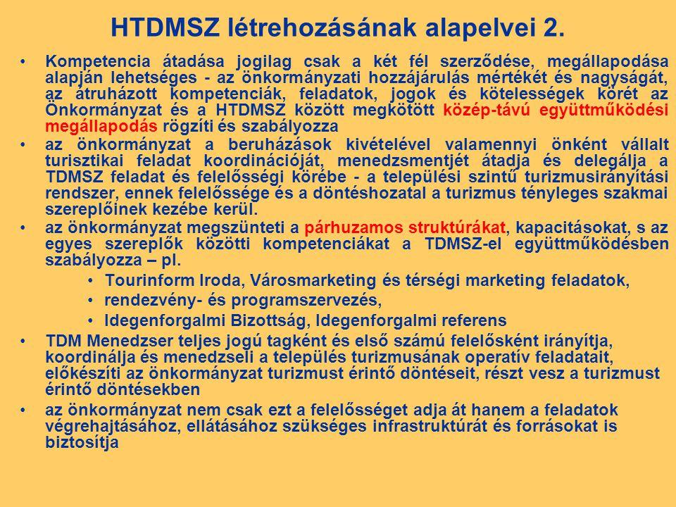 HTDMSZ létrehozásának alapelvei 2.