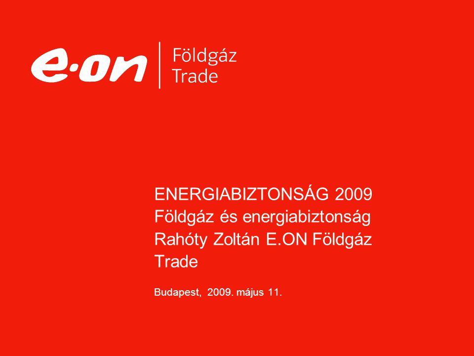ENERGIABIZTONSÁG 2009 Földgáz és energiabiztonság Rahóty Zoltán E