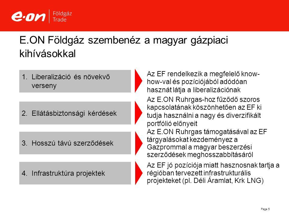 E.ON Földgáz szembenéz a magyar gázpiaci kihívásokkal