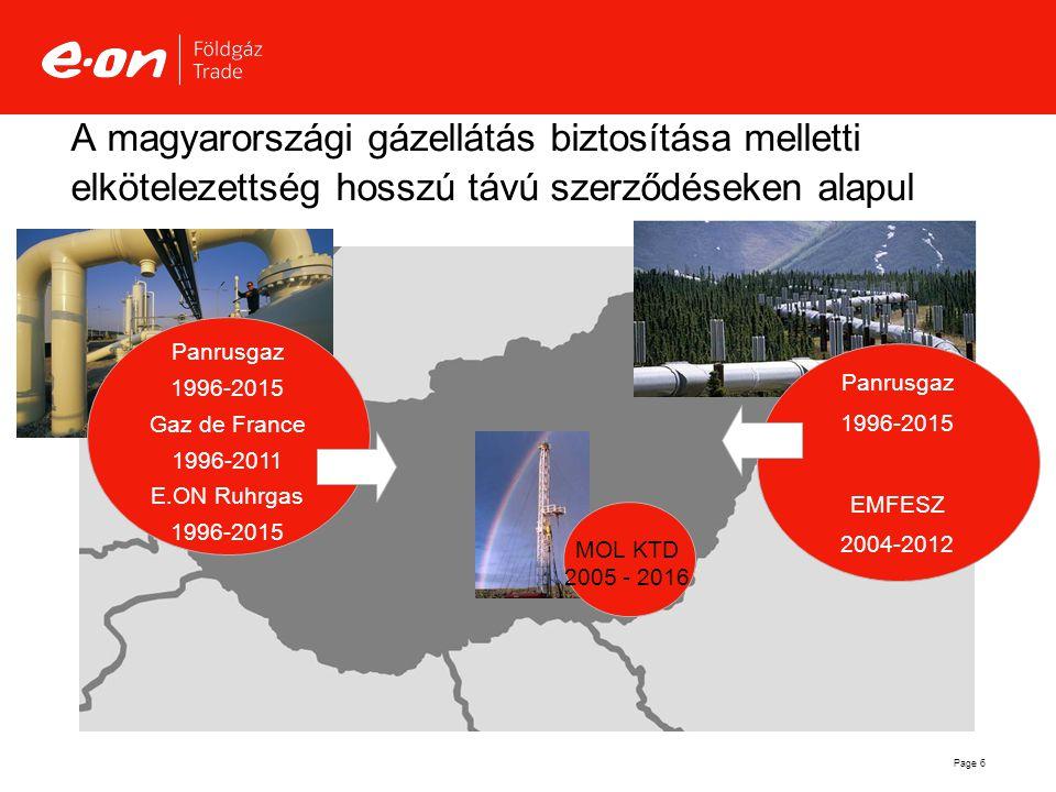 A magyarországi gázellátás biztosítása melletti elkötelezettség hosszú távú szerződéseken alapul