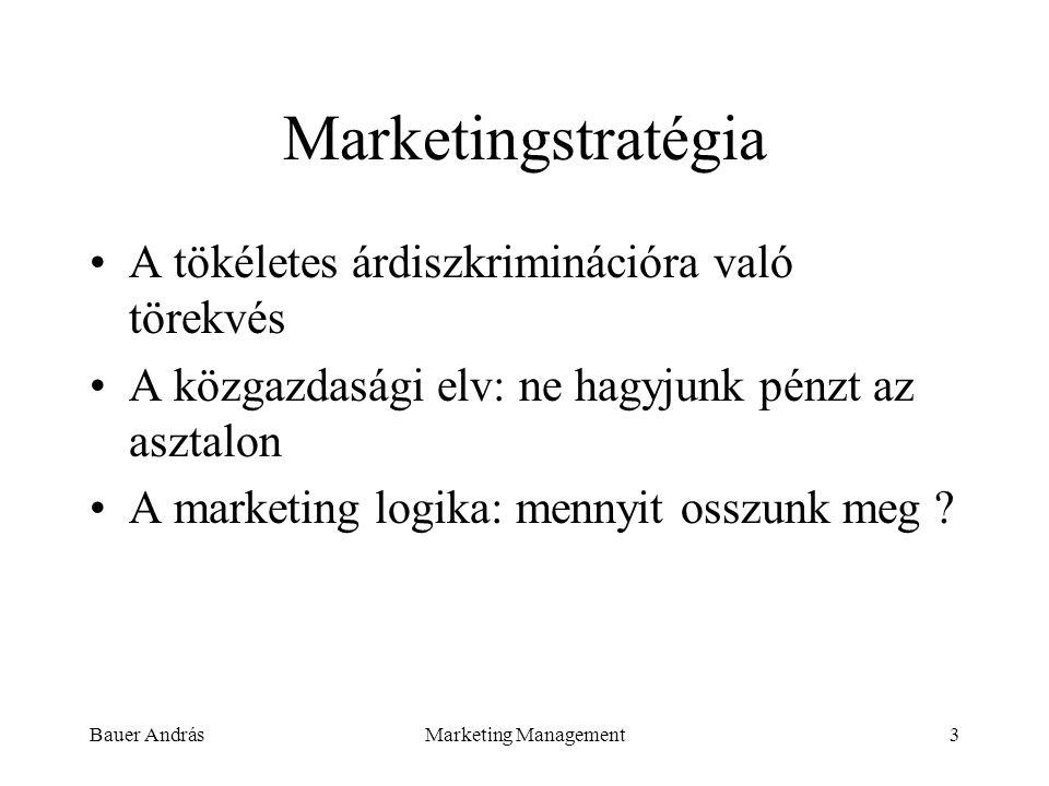 Marketingstratégia A tökéletes árdiszkriminációra való törekvés