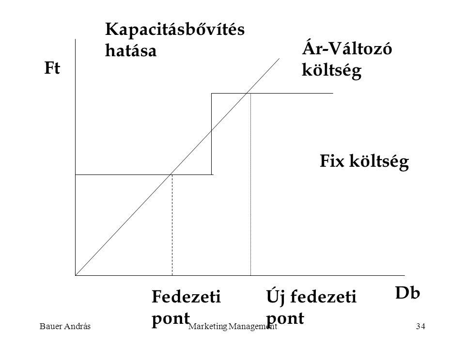 Kapacitásbővítés hatása Ár-Változó költség Ft