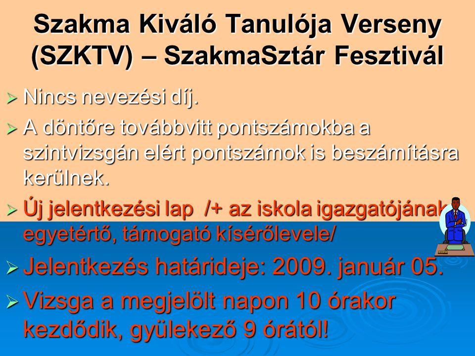 Szakma Kiváló Tanulója Verseny (SZKTV) – SzakmaSztár Fesztivál