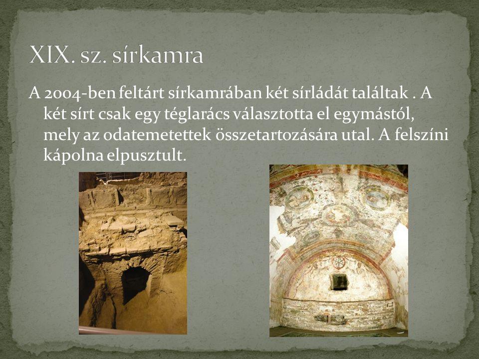XIX. sz. sírkamra