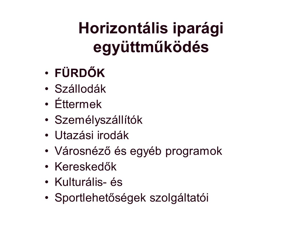 Horizontális iparági együttműködés