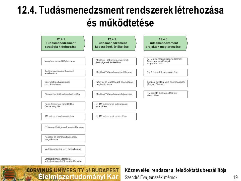 12.4. Tudásmenedzsment rendszerek létrehozása és működtetése