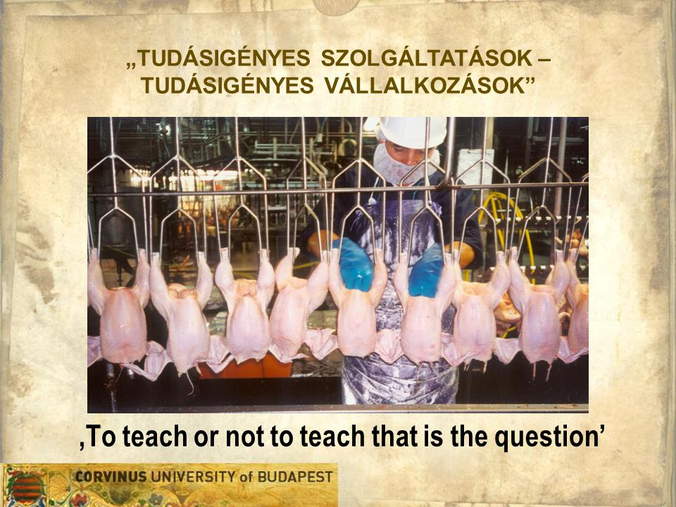 'To teach or not to teach that is the question'