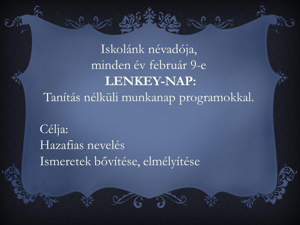 LENKEY-NAP: Tanítás nélküli munkanap programokkal.