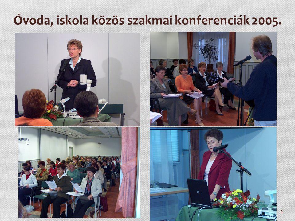 Óvoda, iskola közös szakmai konferenciák 2005.