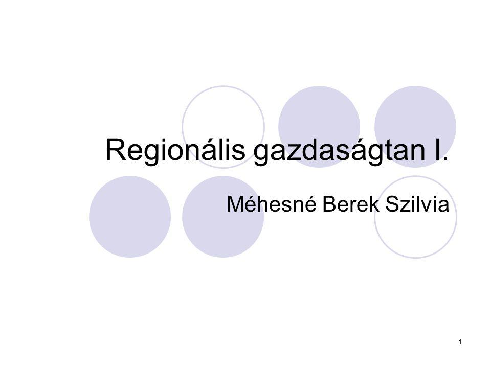 Regionális gazdaságtan I.