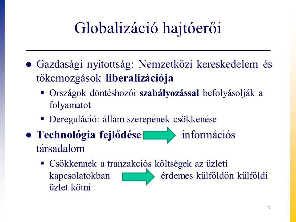 Globalizáció hajtóerői