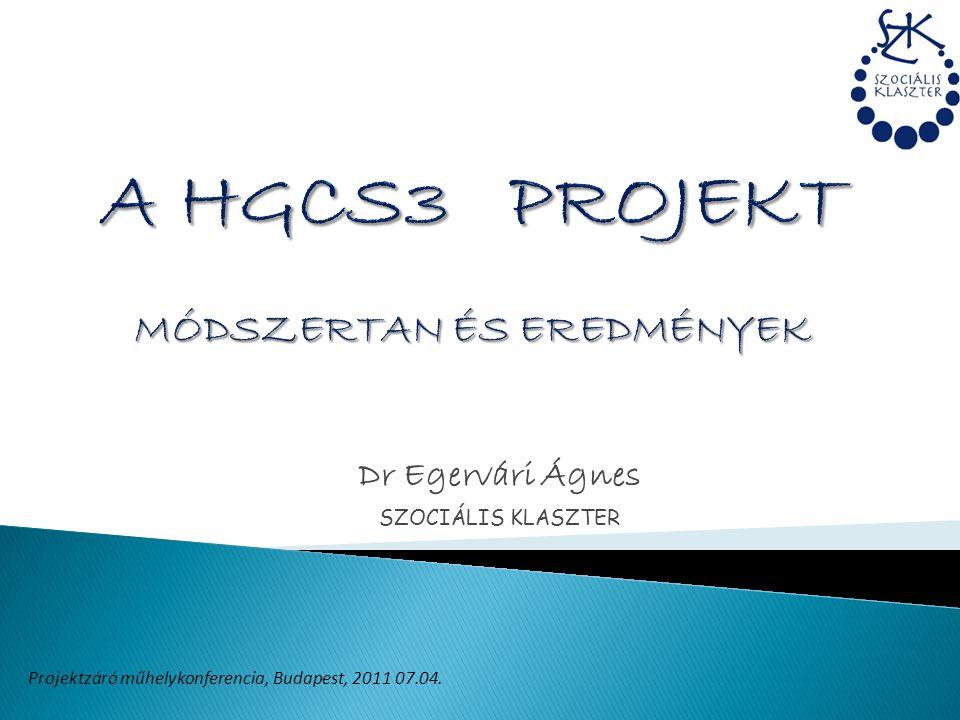 A HGCS3 PROJEKT MÓDSZERTAN ÉS EREDMÉNYEK