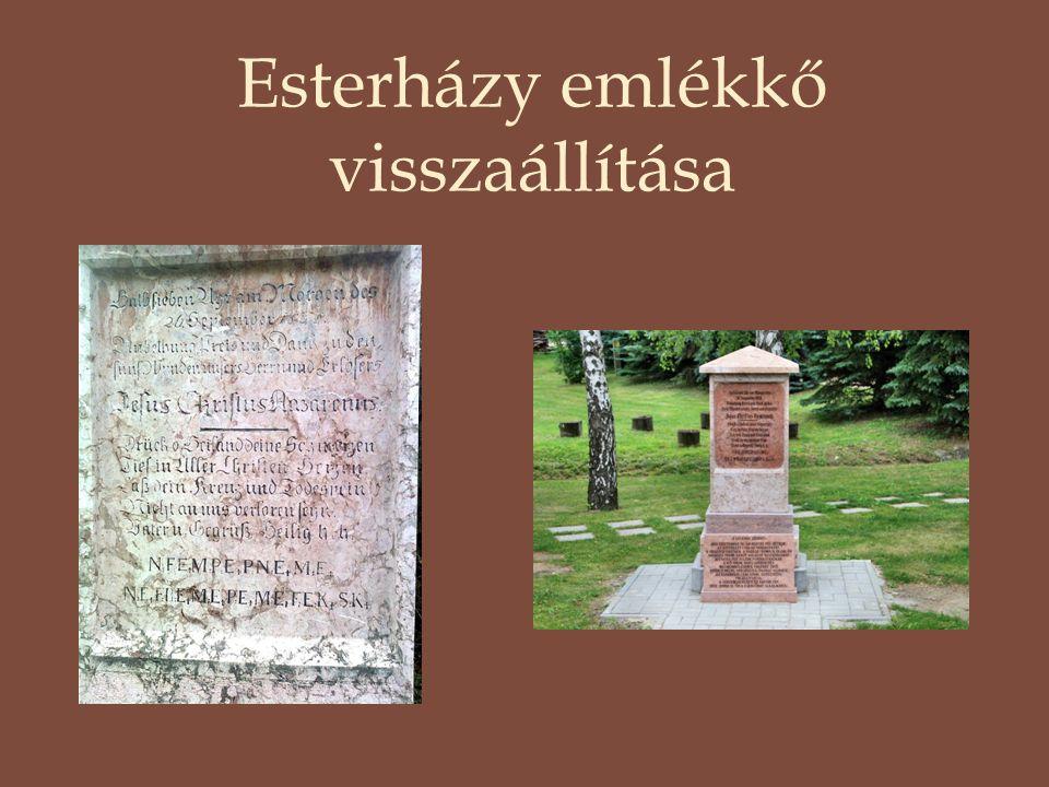 Esterházy emlékkő visszaállítása