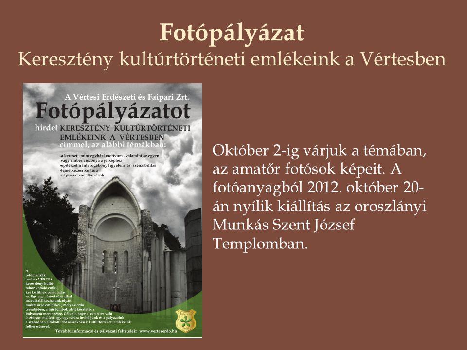 Fotópályázat Keresztény kultúrtörténeti emlékeink a Vértesben