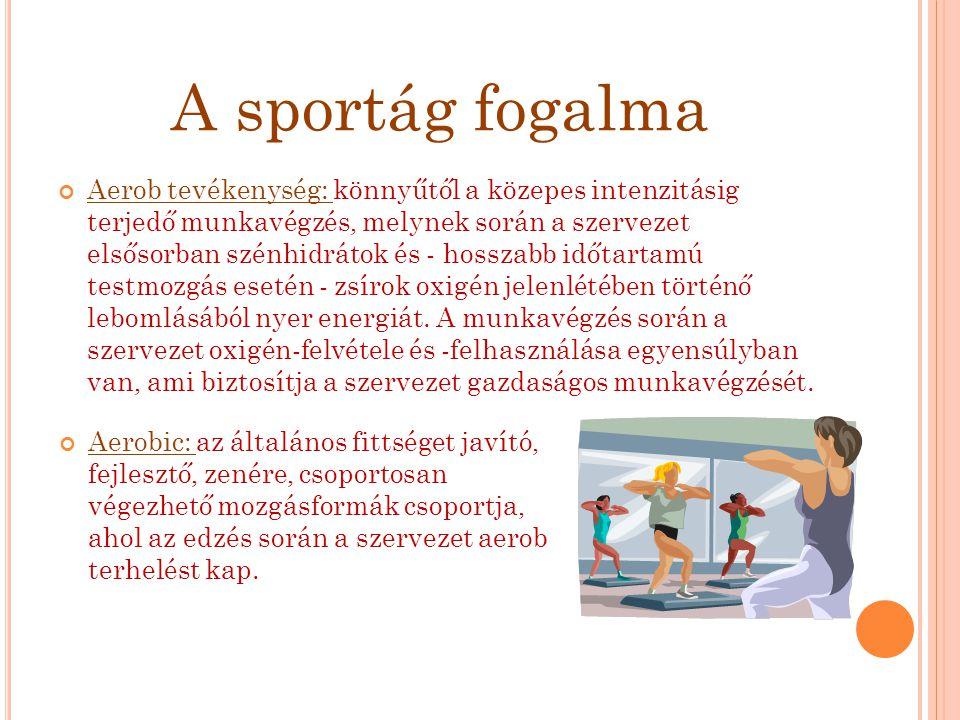 A sportág fogalma
